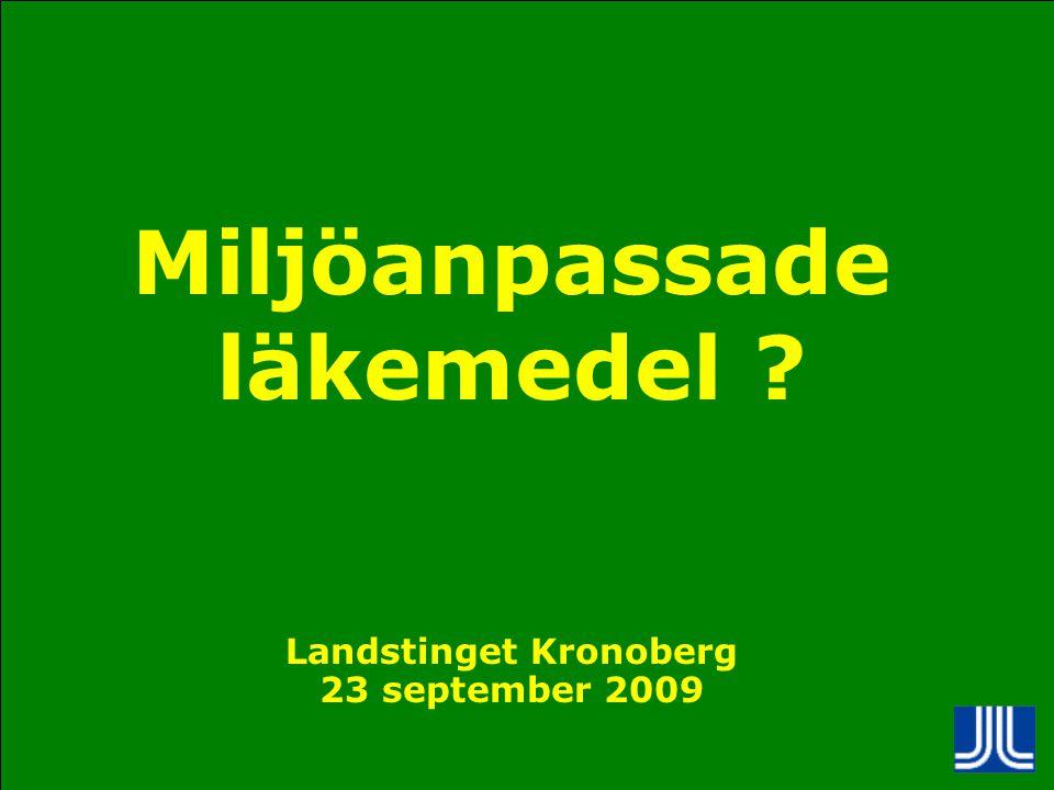 Miljöanpassade läkemedel Landstinget Kronoberg
