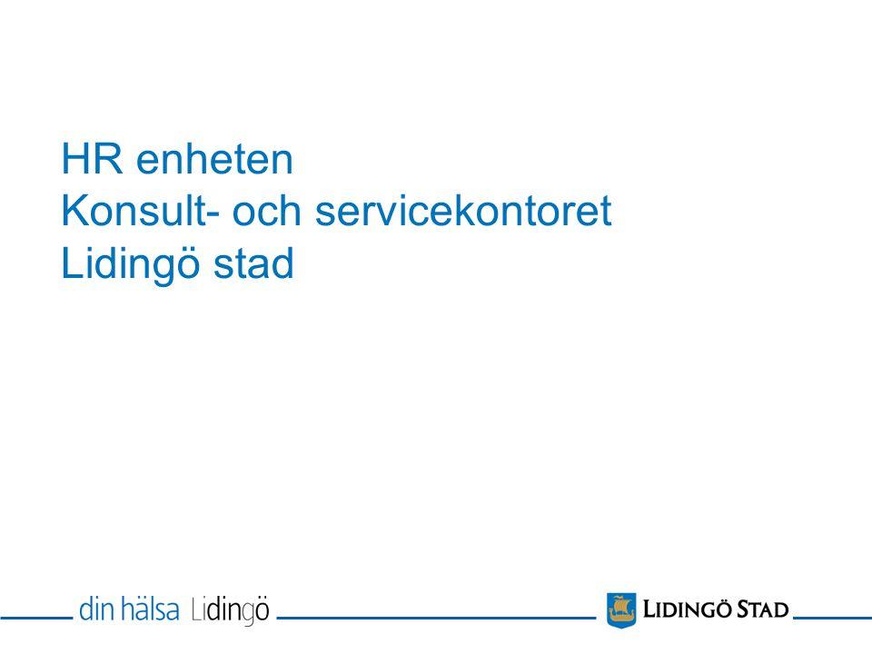 HR enheten Konsult- och servicekontoret Lidingö stad