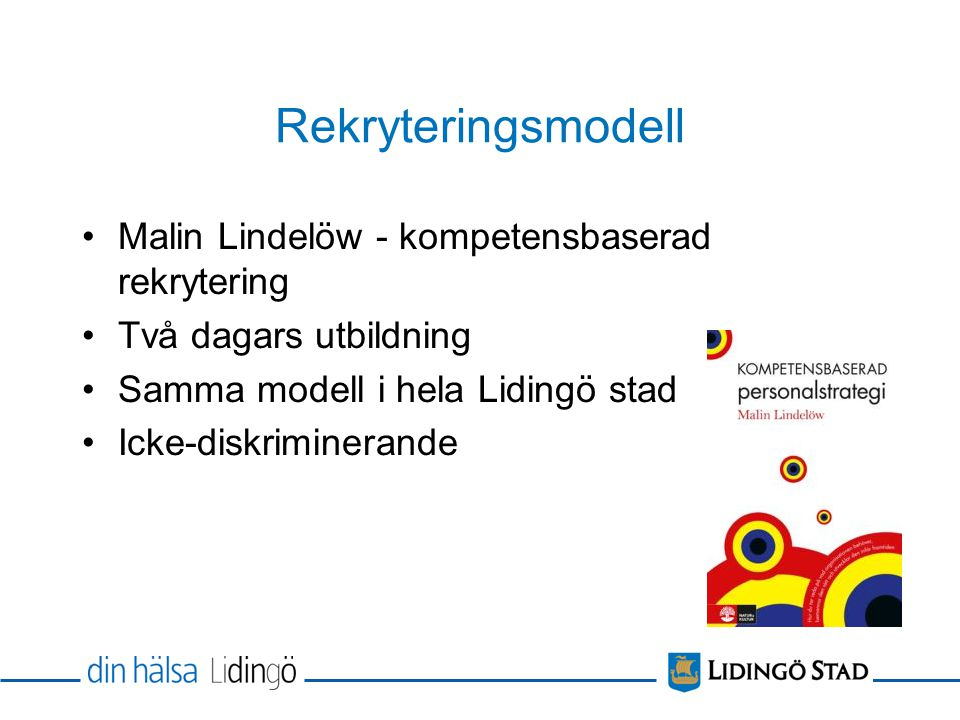 Rekryteringsmodell Malin Lindelöw - kompetensbaserad rekrytering