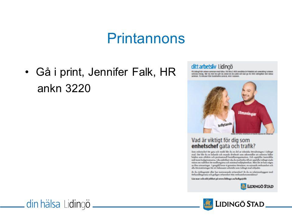 Printannons Gå i print, Jennifer Falk, HR ankn 3220