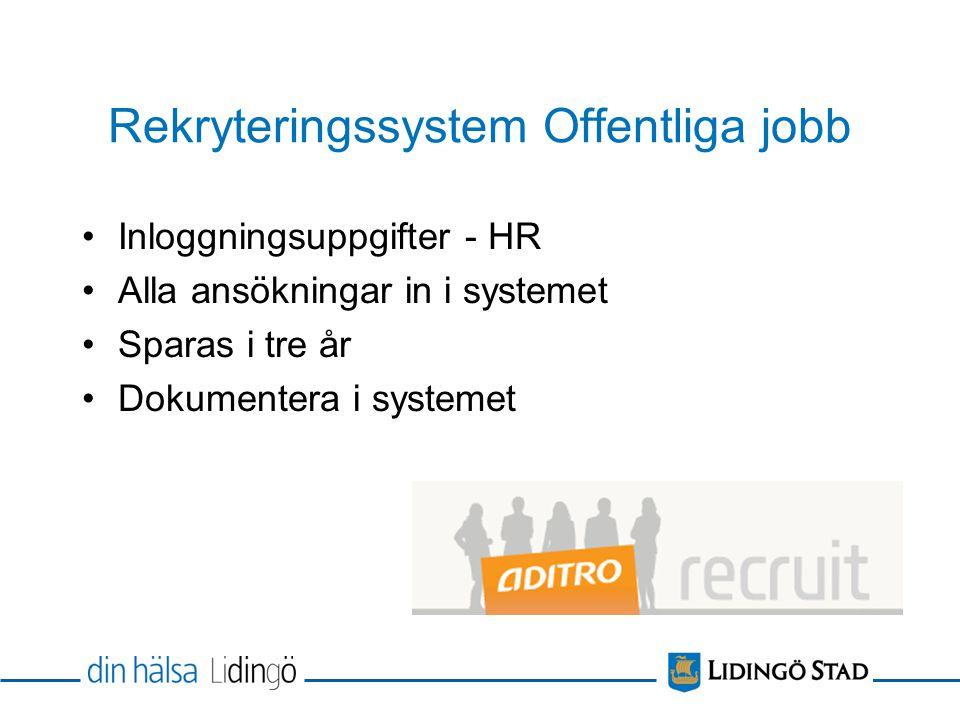 Rekryteringssystem Offentliga jobb