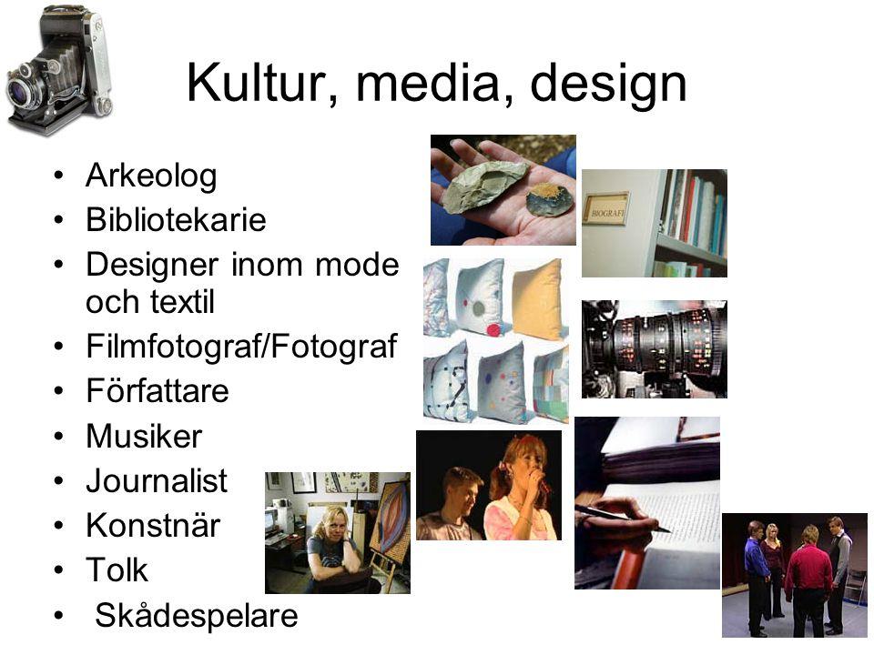 Kultur, media, design Arkeolog Bibliotekarie