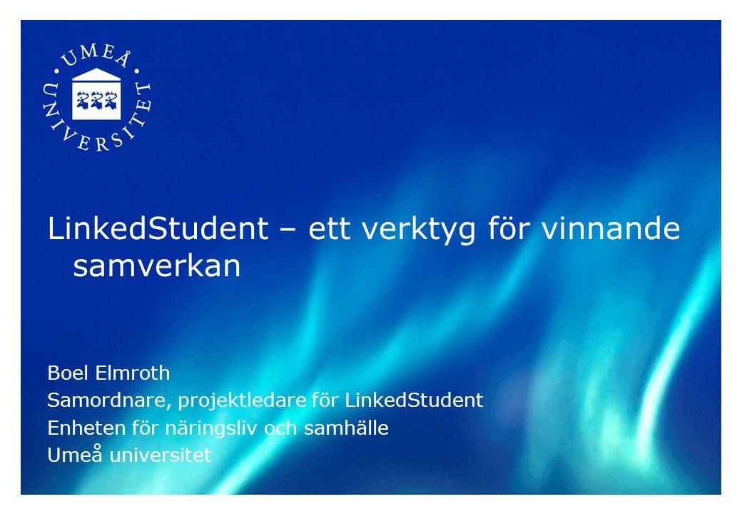 LinkedStudent – ett verktyg för vinnande samverkan