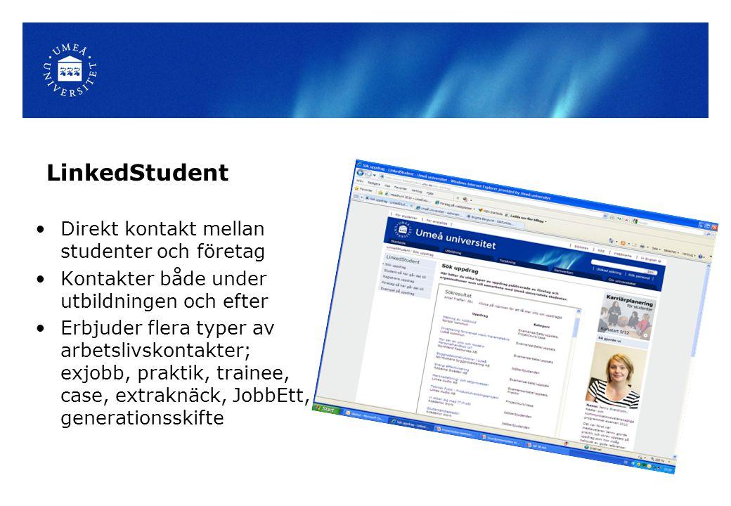 LinkedStudent Direkt kontakt mellan studenter och företag