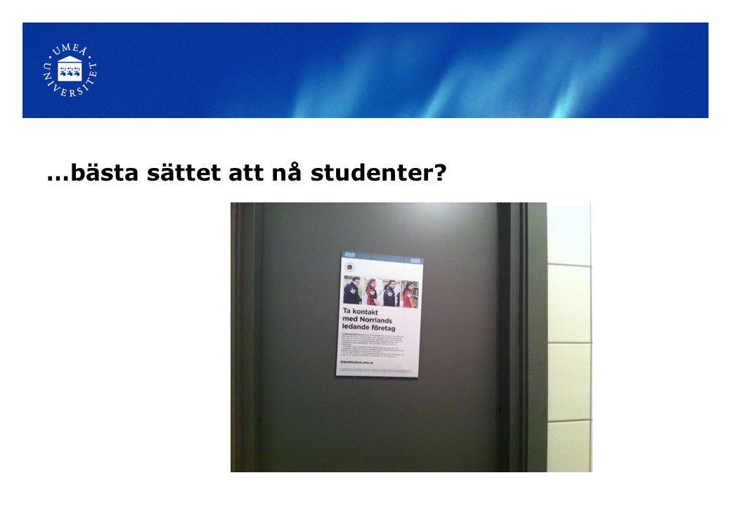 …bästa sättet att nå studenter