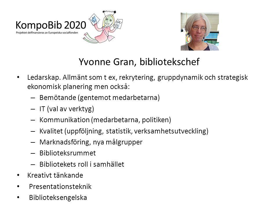 Yvonne Gran, bibliotekschef
