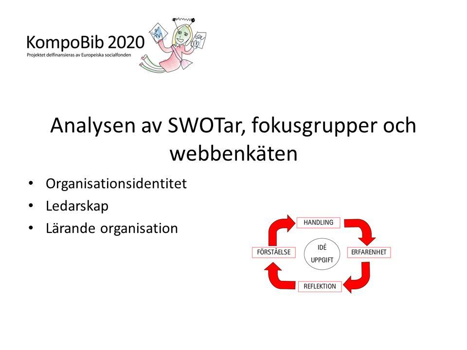Analysen av SWOTar, fokusgrupper och webbenkäten