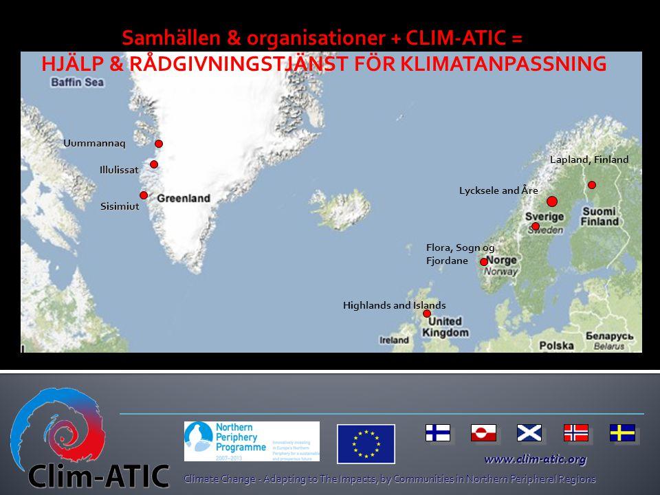 Samhällen & organisationer + CLIM-ATIC =