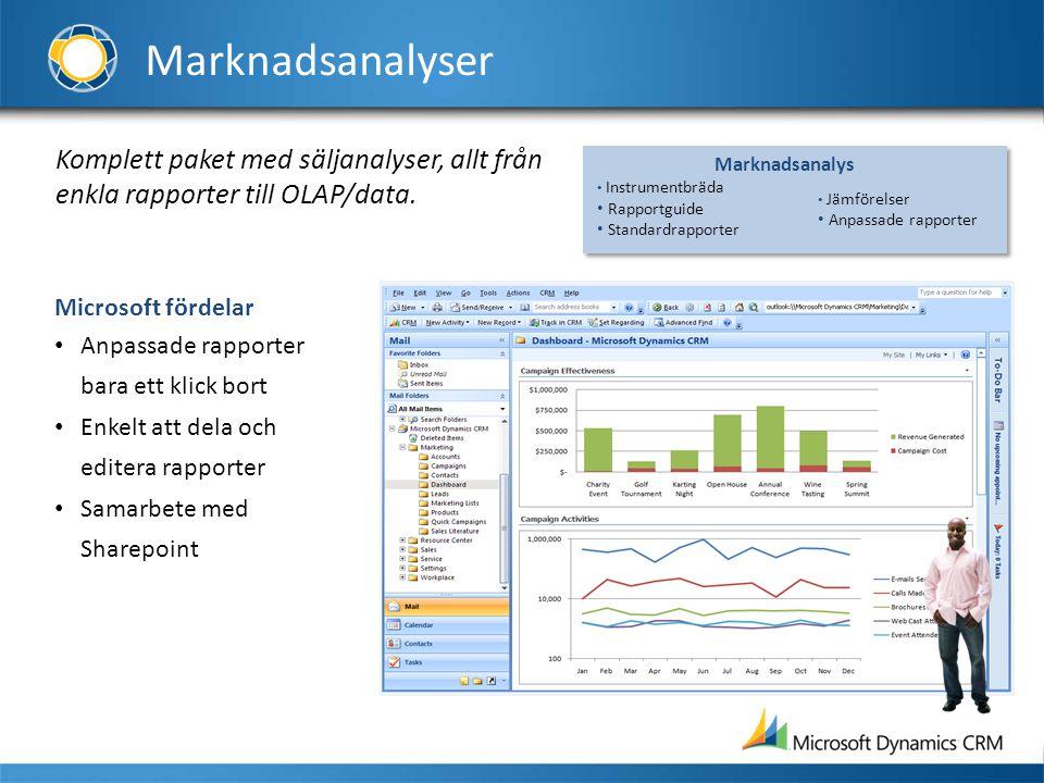 Marknadsanalyser Komplett paket med säljanalyser, allt från enkla rapporter till OLAP/data. Marknadsanalys.