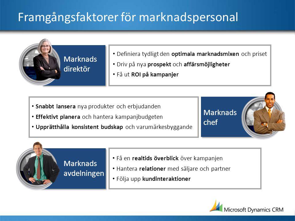 Framgångsfaktorer för marknadspersonal