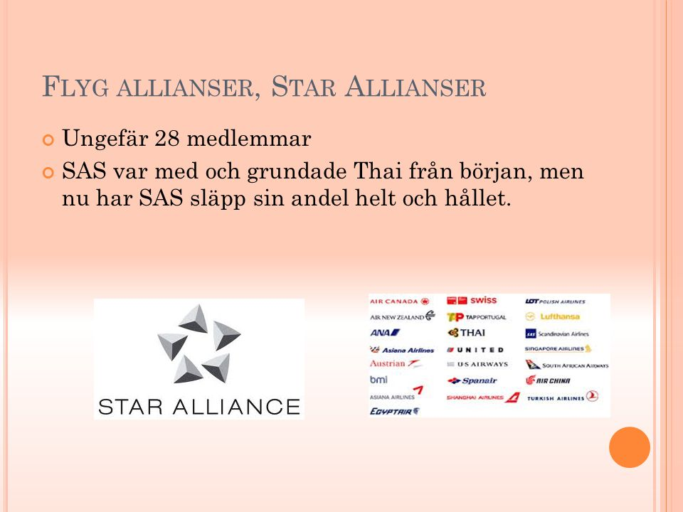 Flyg allianser, Star Allianser