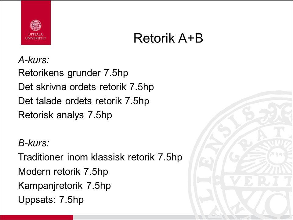 Retorik A+B A-kurs: Retorikens grunder 7.5hp
