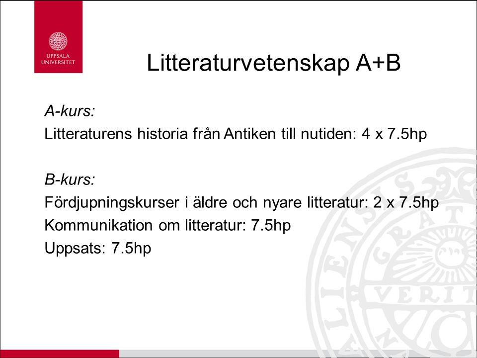 Litteraturvetenskap A+B