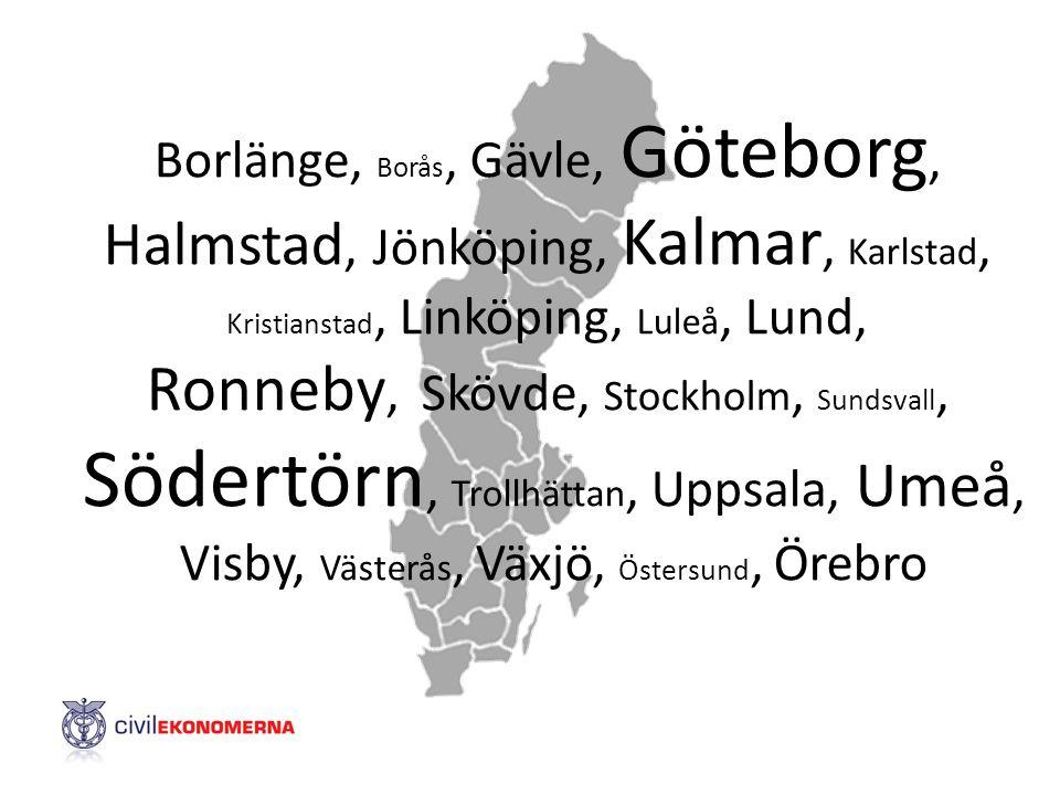 Ronneby, Skövde, Stockholm, Sundsvall,