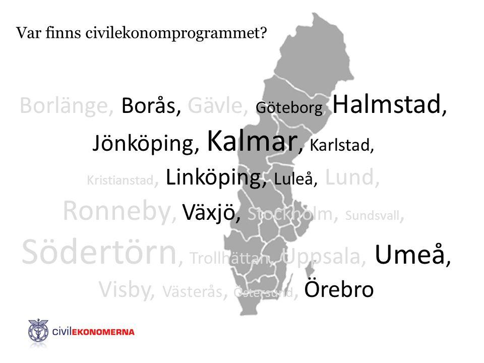 Var finns civilekonomprogrammet