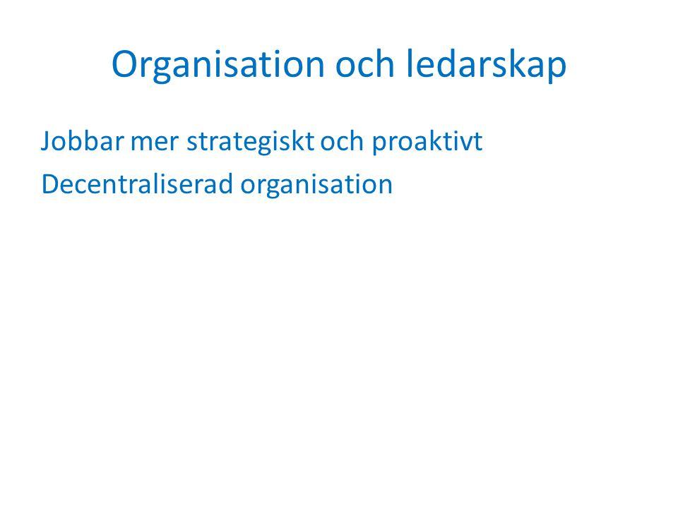Organisation och ledarskap