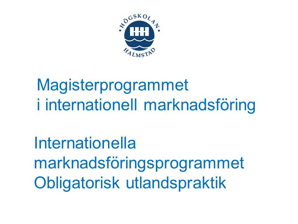 Magisterprogrammet i internationell marknadsföring.