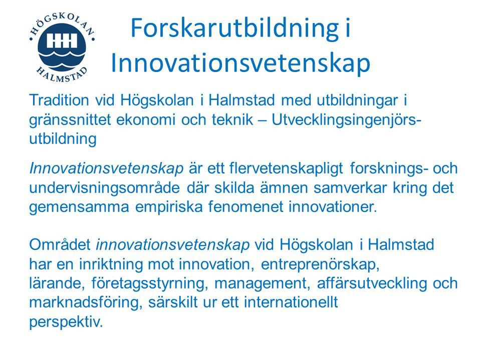 Forskarutbildning i Innovationsvetenskap