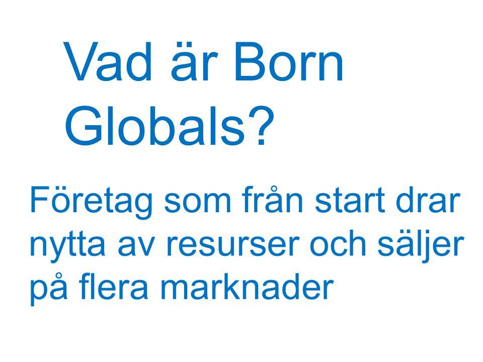 Vad är Born Globals