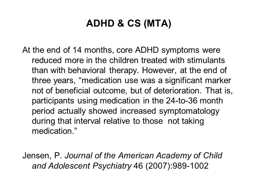 ADHD & CS (MTA)