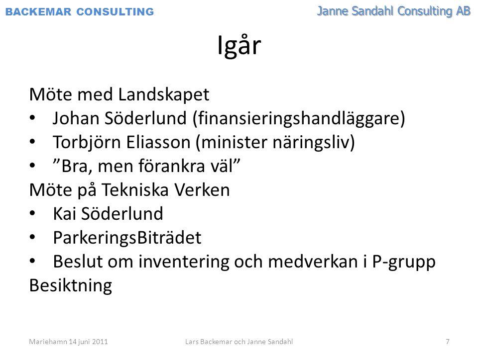 Lars Backemar och Janne Sandahl