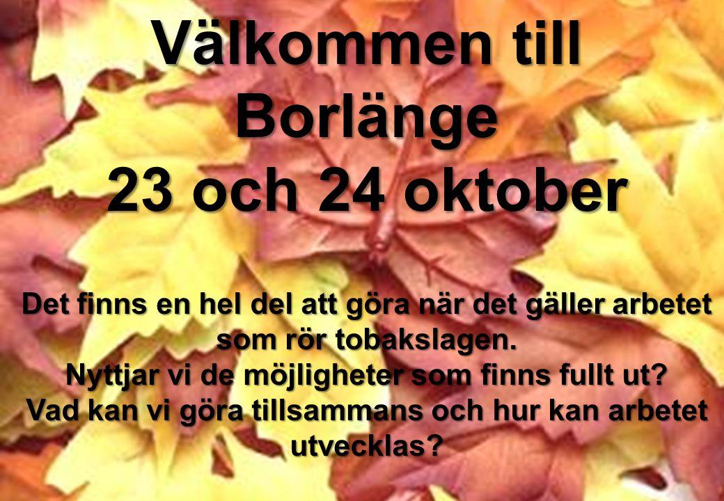 Välkommen till Borlänge 23 och 24 oktober