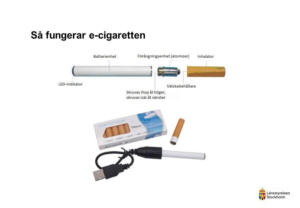 Så fungerar e-cigaretten