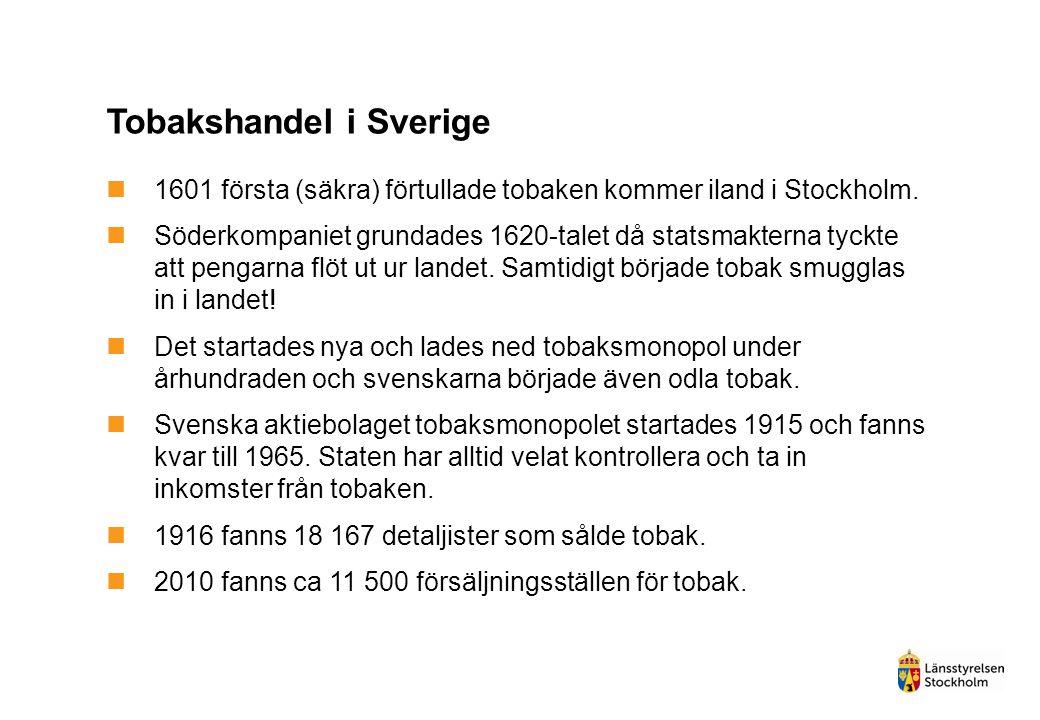 Tobakshandel i Sverige
