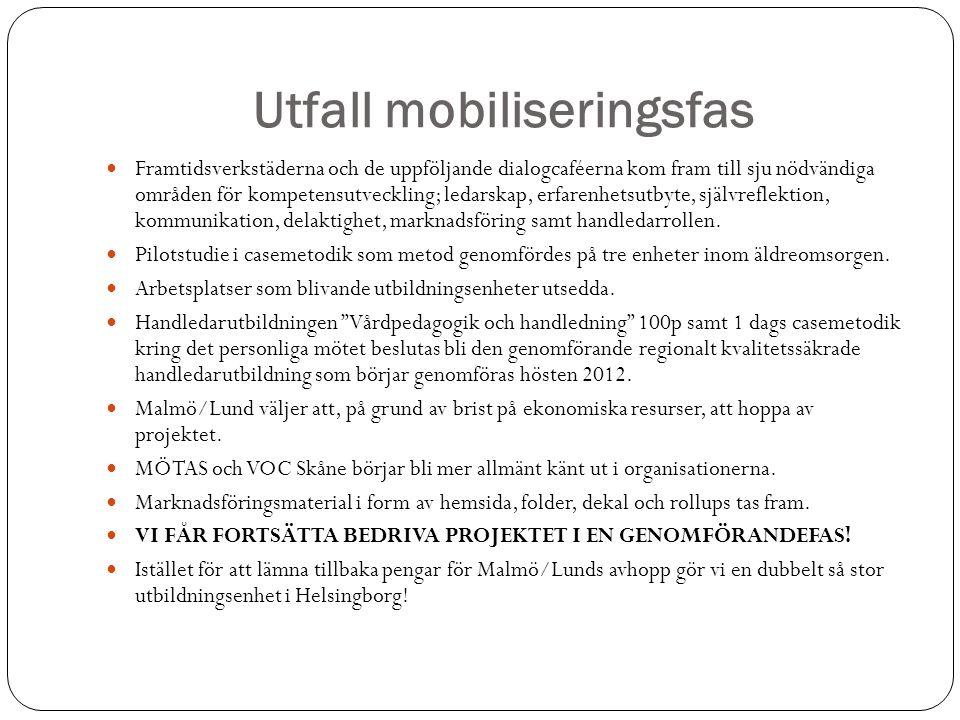 Utfall mobiliseringsfas