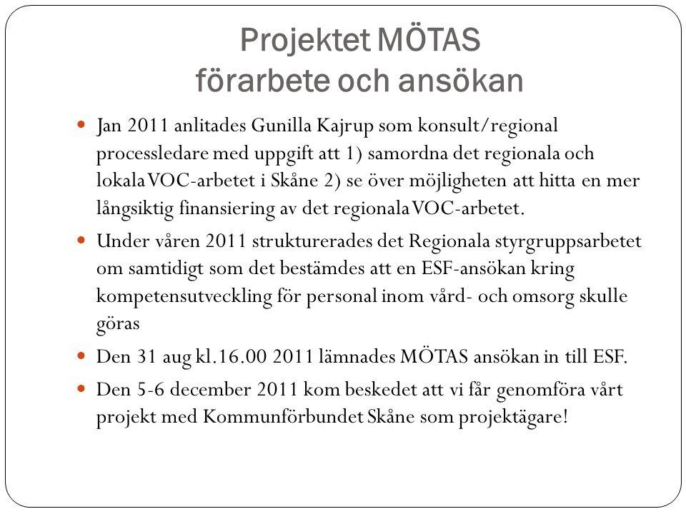 Projektet MÖTAS förarbete och ansökan