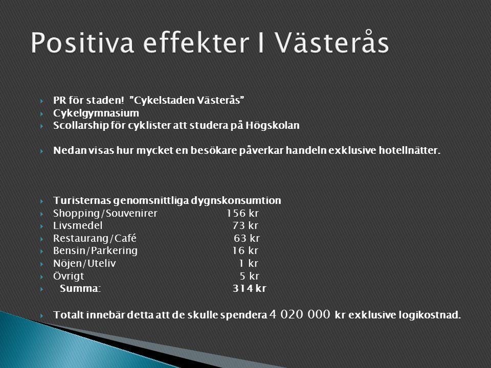Positiva effekter I Västerås