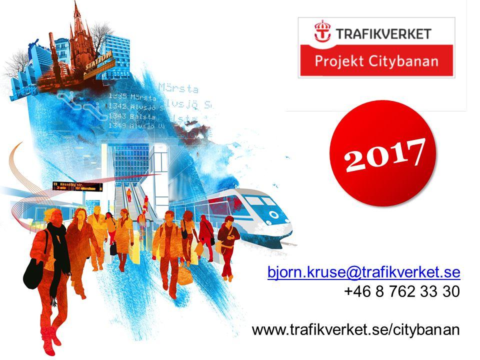 2017 bjorn.kruse@trafikverket.se +46 8 762 33 30