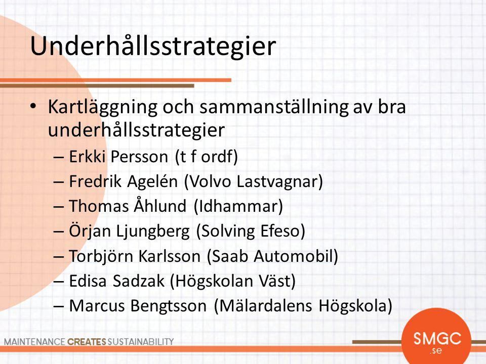 Underhållsstrategier