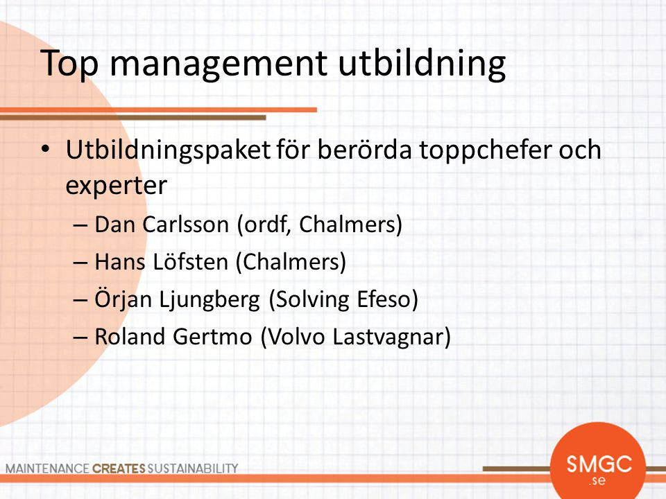 Top management utbildning