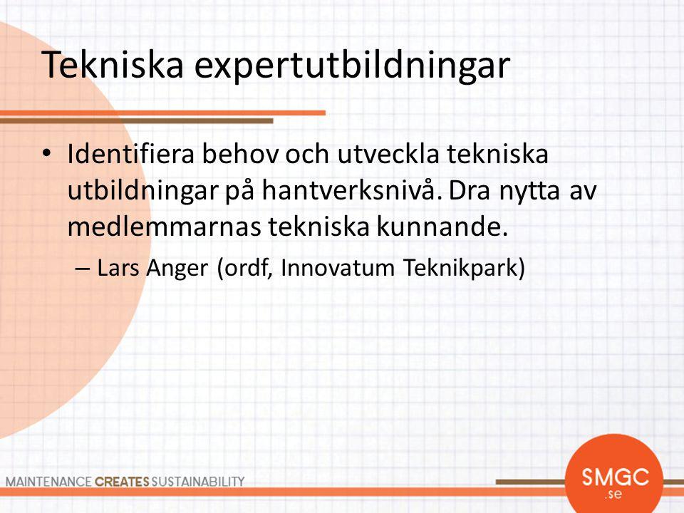 Tekniska expertutbildningar