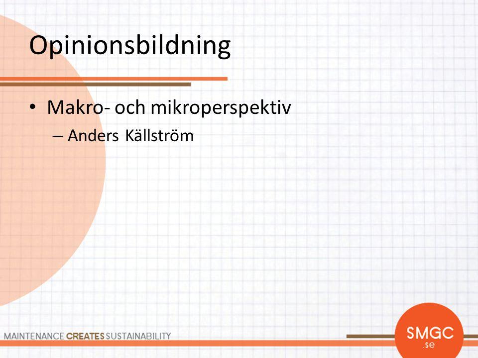 Opinionsbildning Makro- och mikroperspektiv Anders Källström