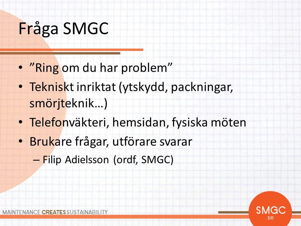 Fråga SMGC Ring om du har problem