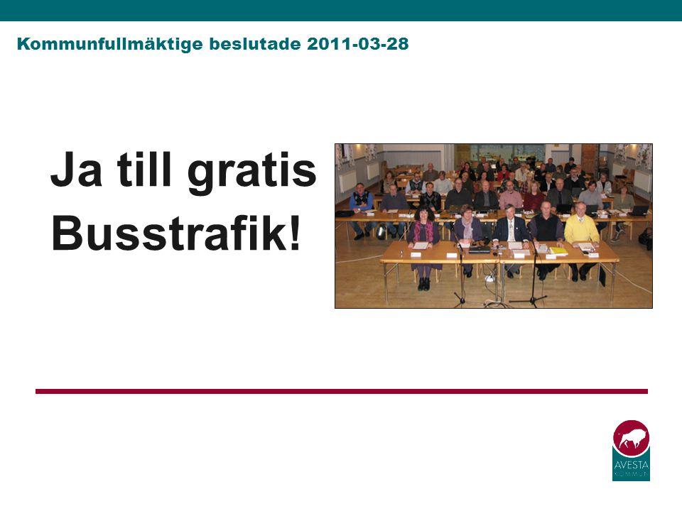 Kommunfullmäktige beslutade 2011-03-28
