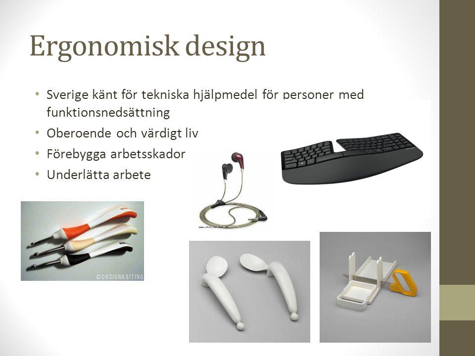 Ergonomisk design Sverige känt för tekniska hjälpmedel för personer med funktionsnedsättning. Oberoende och värdigt liv.
