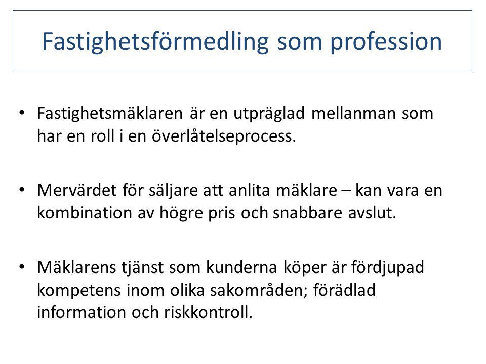 Fastighetsförmedling som profession