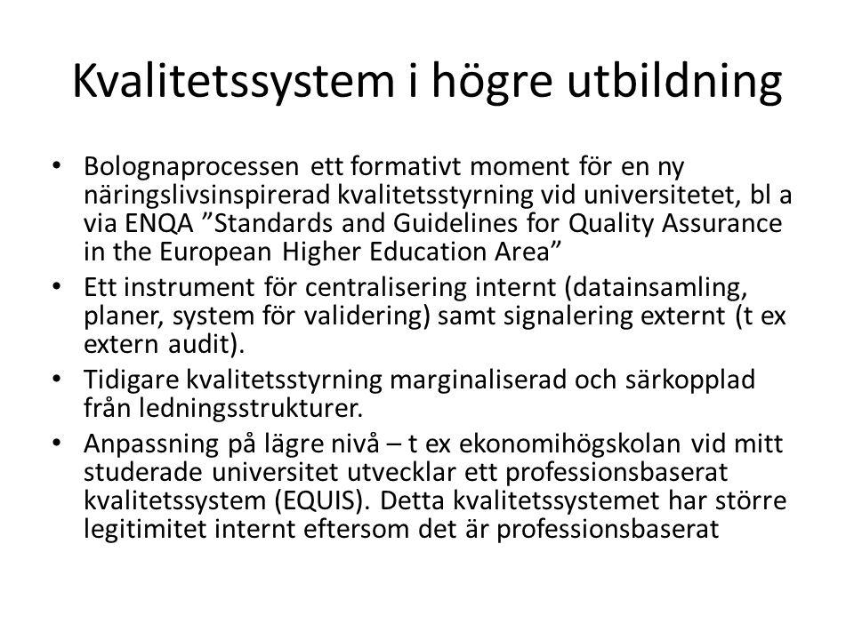 Kvalitetssystem i högre utbildning
