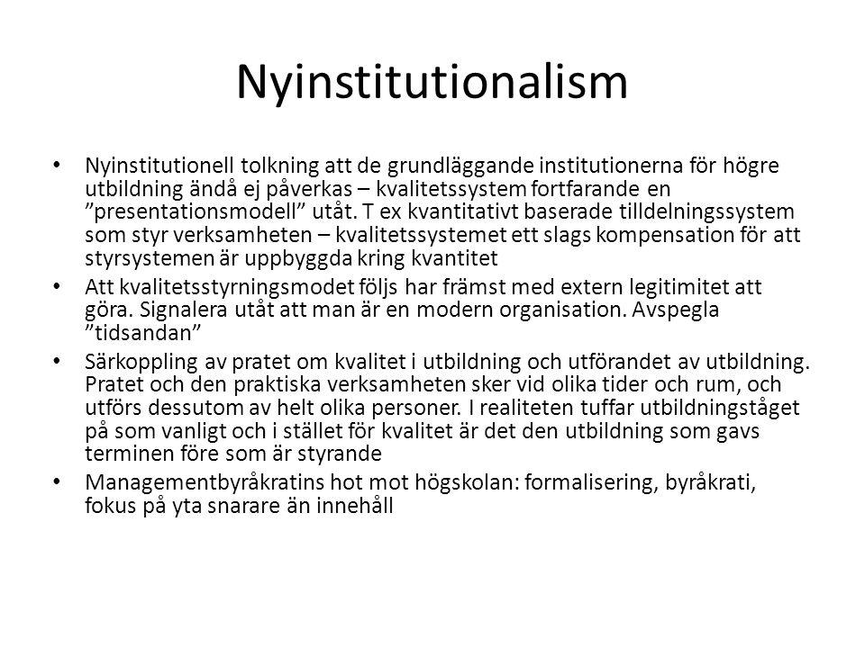 Nyinstitutionalism