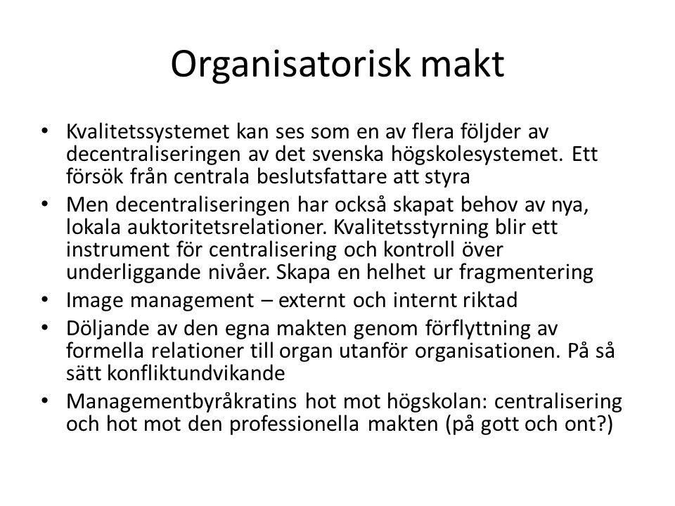 Organisatorisk makt