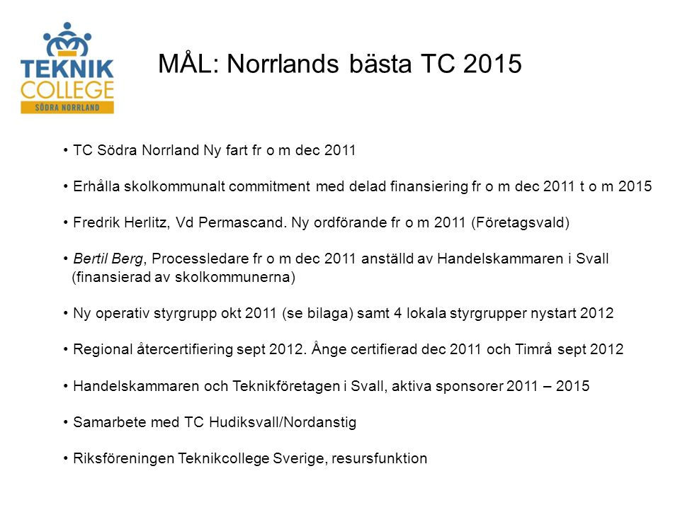 MÅL: Norrlands bästa TC 2015