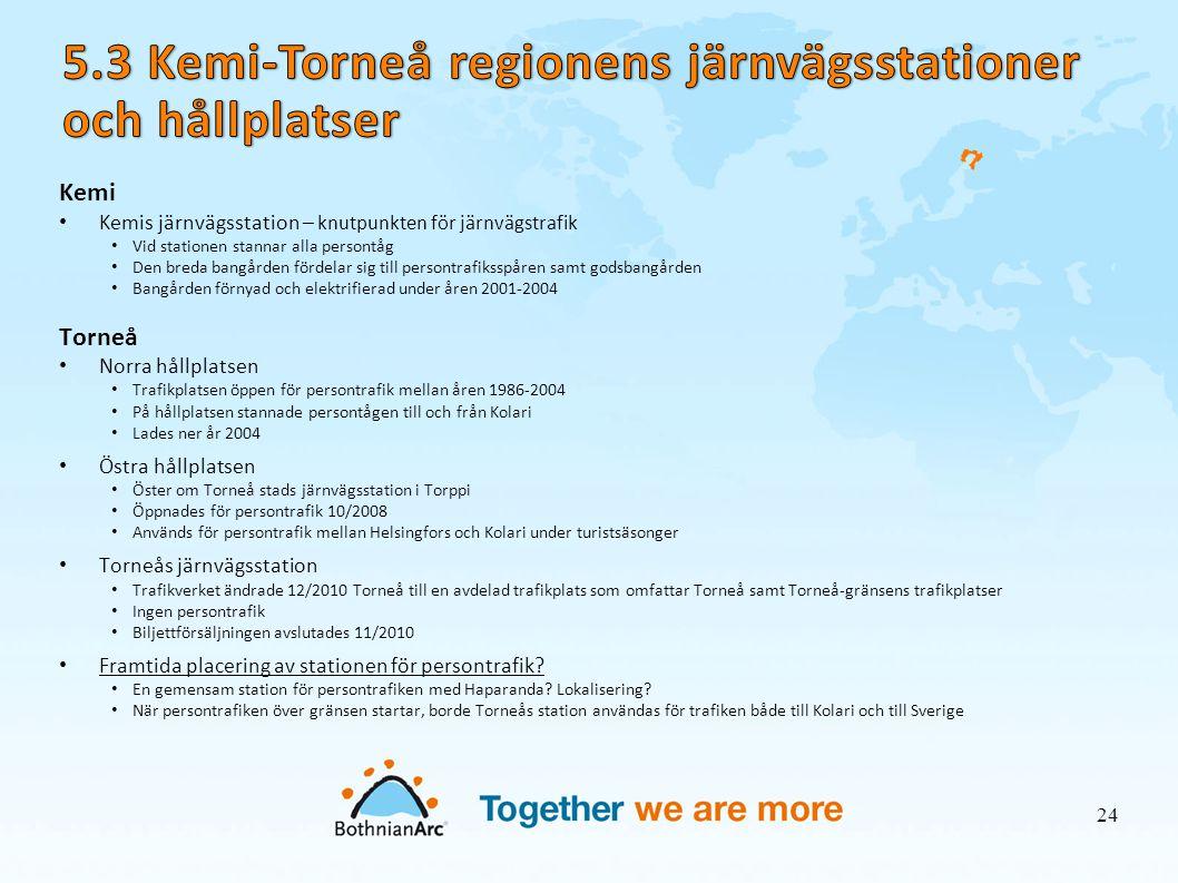 5.3 Kemi-Torneå regionens järnvägsstationer och hållplatser
