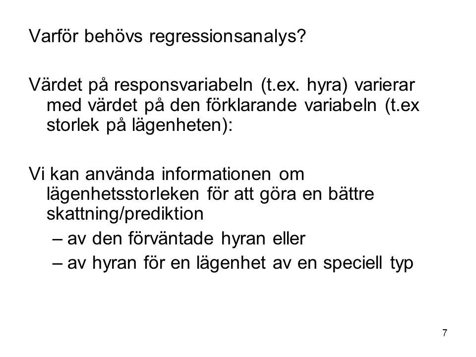 Varför behövs regressionsanalys