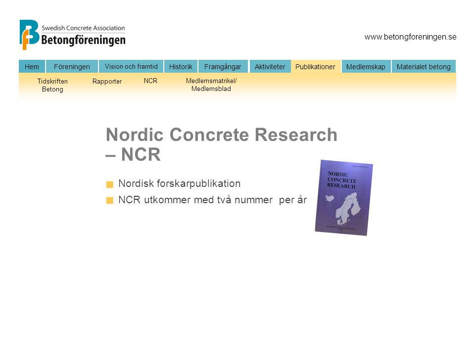 Nordic Concrete Research – NCR