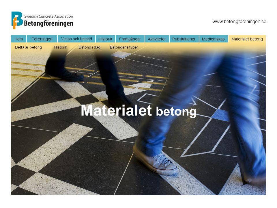 Materialet betong