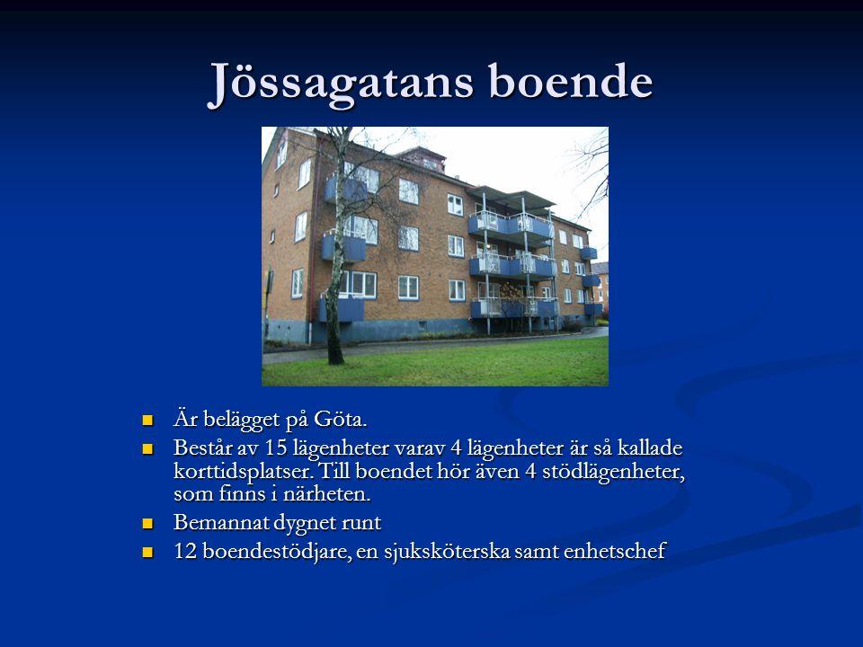 Jössagatans boende Är belägget på Göta.