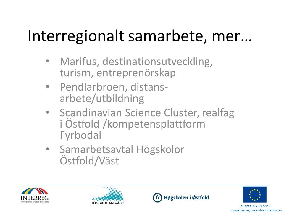 Interregionalt samarbete, mer…